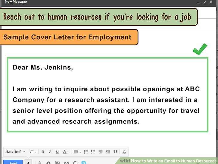 3 Ways to Write an Email to Human Resources - wikiHow