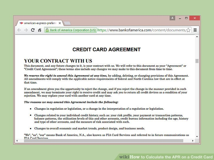 How to Calculate the APR on a Credit Card 9 Steps (with Pictures)