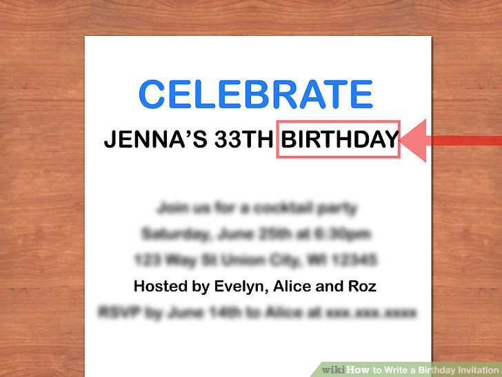 How to Write a Birthday Invitation 14 Steps (with Pictures)