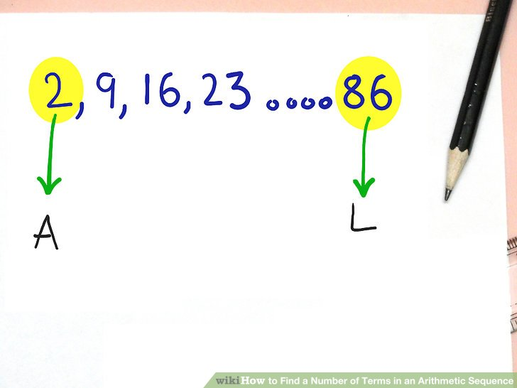 How to Find a Number of Terms in an Arithmetic Sequence 3 Steps - arithmetic sequence example