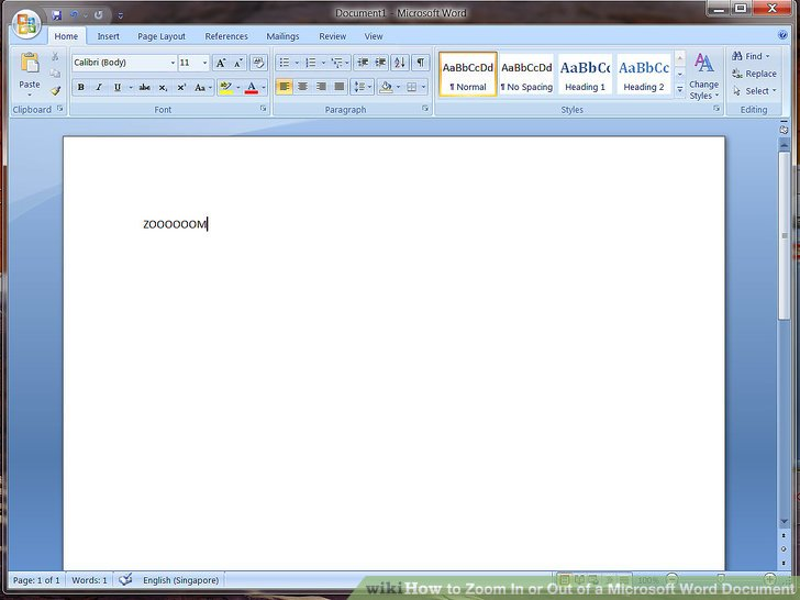 How to Zoom In or Out of a Microsoft Word Document 4 Steps - microsoft word
