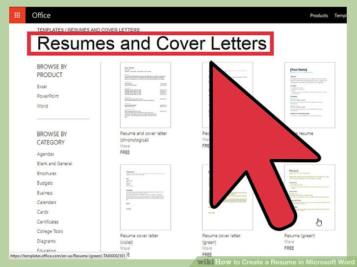 How to Create a Resume in Microsoft Word (with 3 Sample Resumes) - how to get a resume template on word