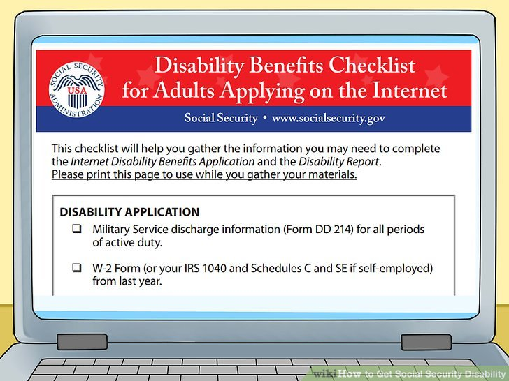5 Ways to Get Social Security Disability - wikiHow - social security disability form