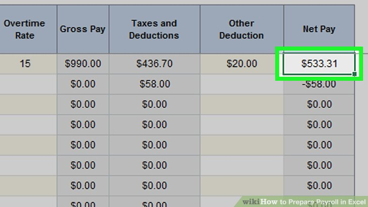 How To Create Payroll In Excel how to prepare payroll in excel