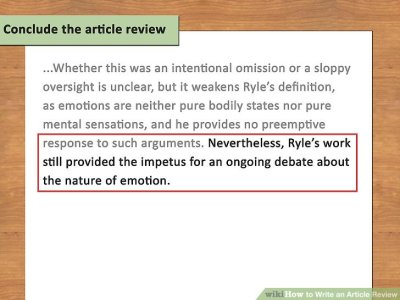 How to Write an Article Review (with Sample Reviews) - wikiHow