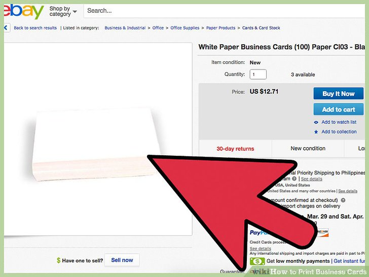 How to Print Business Cards 8 Steps (with Pictures) - wikiHow