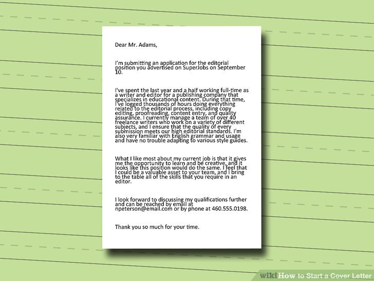 4 Ways to Start a Cover Letter - wikiHow - how do you start a cover letter
