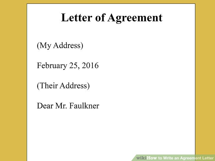 How to Write an Agreement Letter (with Pictures) - wikiHow - agreement letter