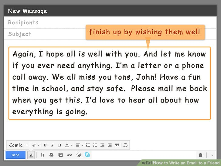How to Write an Email to a Friend (with Pictures) - wikiHow