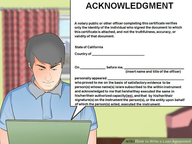How to Write a Loan Agreement (with Pictures) - wikiHow - loan agreement