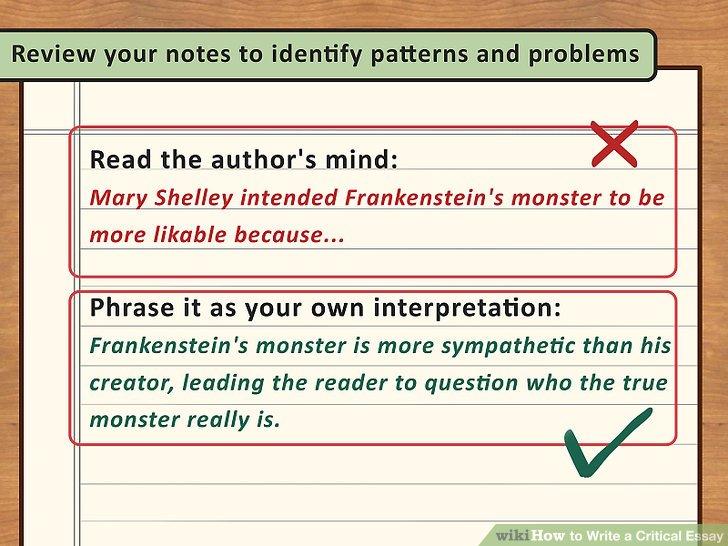 Frankenstein Critical Essay  Cfcpoland Dr