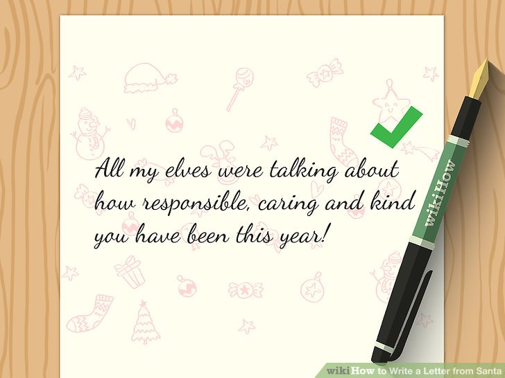 3 Ways to Write a Letter from Santa - wikiHow