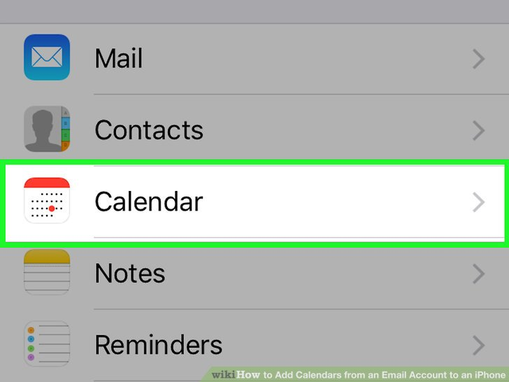 How to Add Calendars from an Email Account to an iPhone