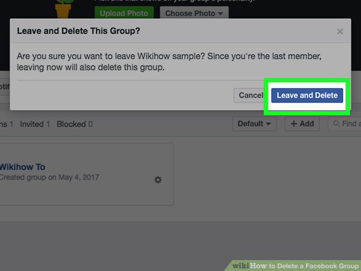 How to delete open group on facebook ltt image titled delete a facebook group step 17 ccuart Images