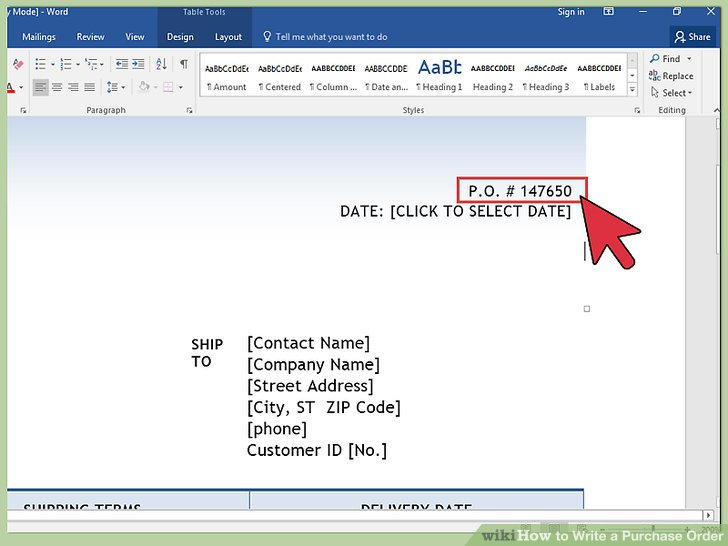 4 Ways to Write a Purchase Order - wikiHow - purchase order template word