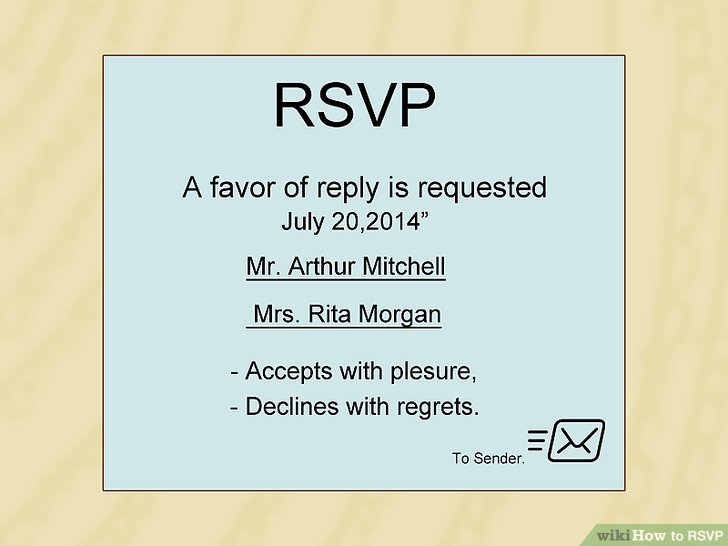 How to RSVP (with Sample RSVP Notes) - wikiHow