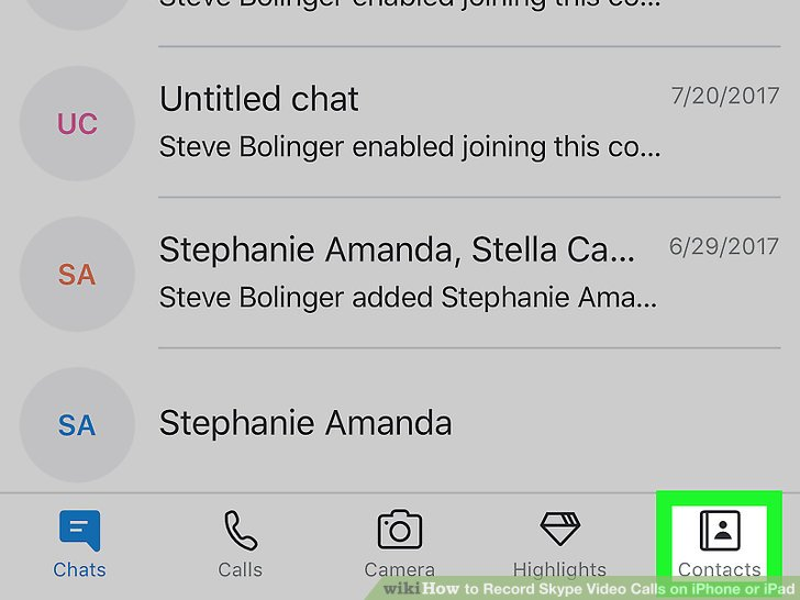 How to Record Skype Video Calls on iPhone or iPad 13 Steps - Record Skype Video Calls