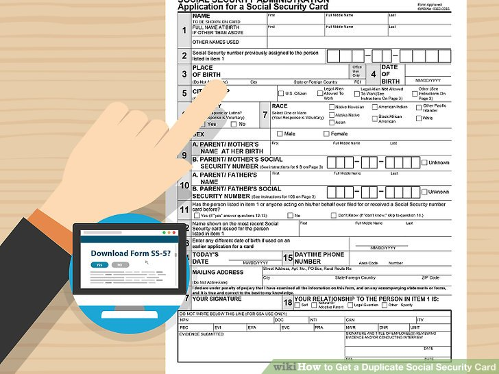 How To? - How to Get a Duplicate Social Security Card - social security form