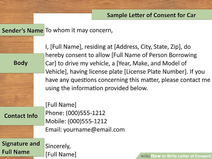 How to Write Letter of Consent (with Downloadable Sample Letter)