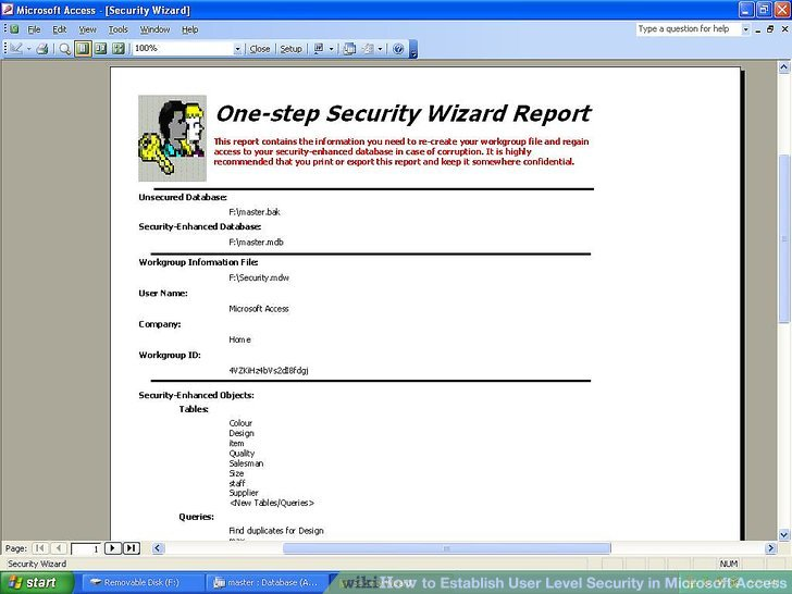 How to Establish User Level Security in Microsoft Access 13 Steps