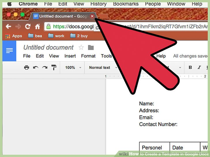 How to Create a Template in Google Docs 13 Steps (with Pictures) - create document template
