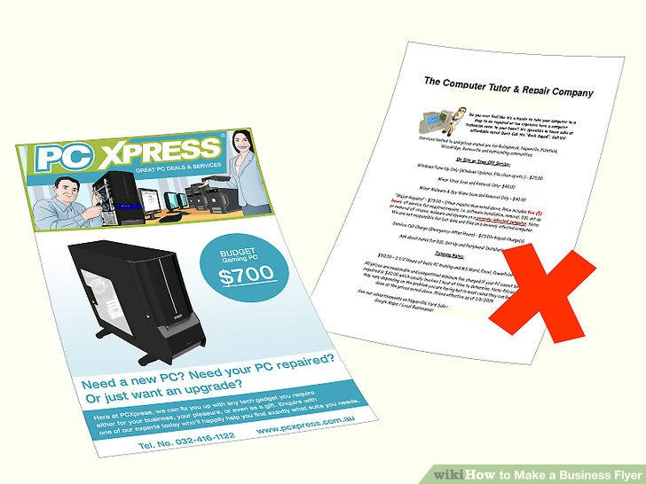How to Make a Business Flyer 8 Steps (with Pictures) - wikiHow