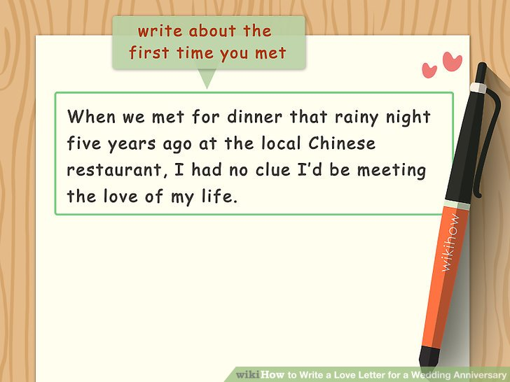 How to Write a Love Letter for a Wedding Anniversary - how to write romantic letters