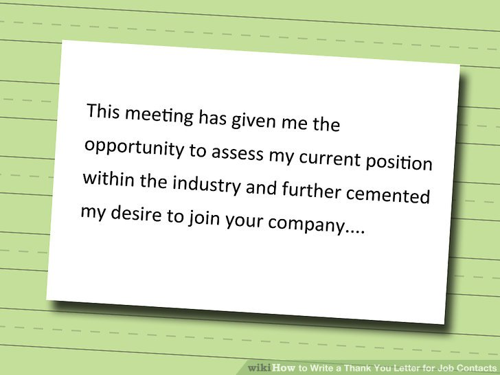 4 Ways to Write a Thank You Letter for Job Contacts - wikiHow - resume thank you letter example
