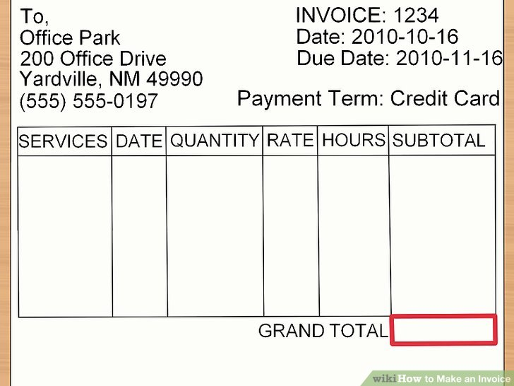How to Make an Invoice (with Sample Invoices) - wikiHow - how to do an invoice for work