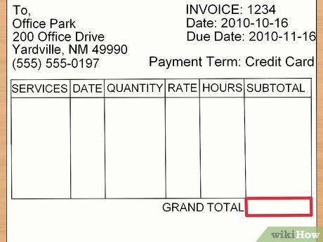 How to Make an Invoice (with Sample Invoices) - wikiHow