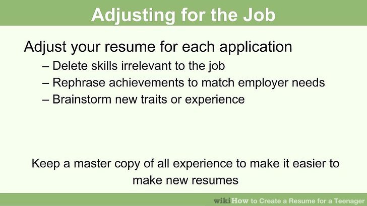 How to Create a Resume for a Teenager 13 Steps (with Pictures) - resume for a teenager