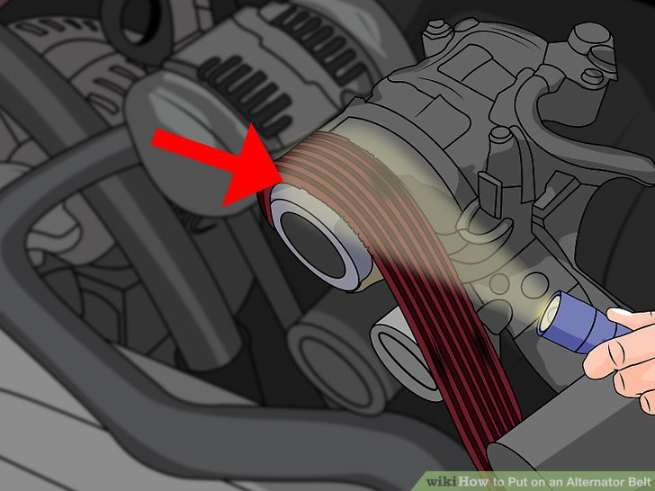 How to Put on an Alternator Belt (with Pictures) - wikiHow
