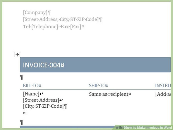 create invoice in word - Ozilalmanoof - create a invoice
