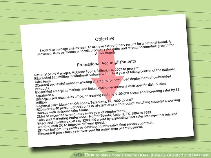 How to Make Your Resume ROAR (Results Oriented and Relevant) (with - how to make your resume