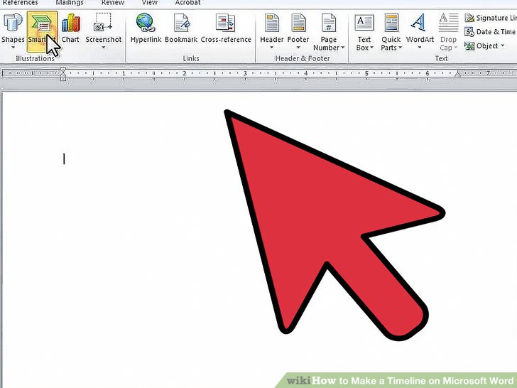 How to Make a Timeline on Microsoft Word 7 Steps (with Pictures)