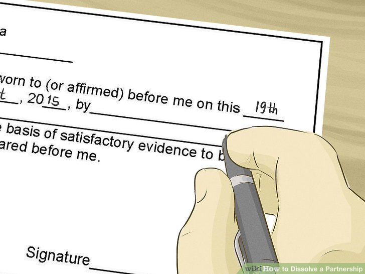 How to Dissolve a Partnership (with Pictures) - wikiHow