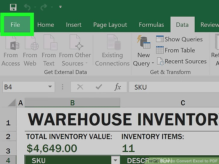 2 Easy Ways To Convert Excel To Pdf Wikihow