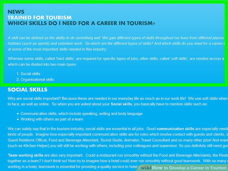 3 Ways to Develop a Career in Tourism - wikiHow