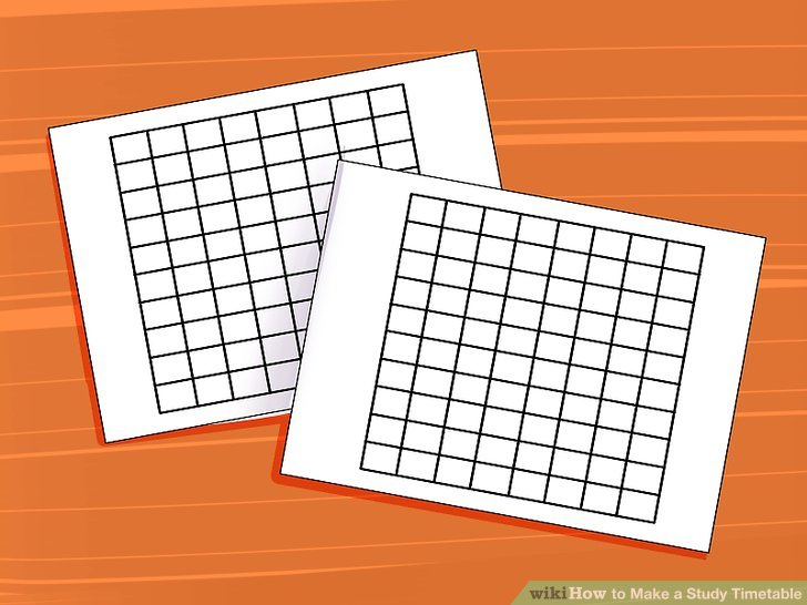 The Easiest Way to Make a Study Timetable - wikiHow - study timetable