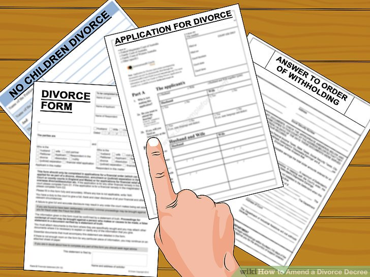 How to Amend a Divorce Decree 13 Steps (with Pictures) - wikiHow