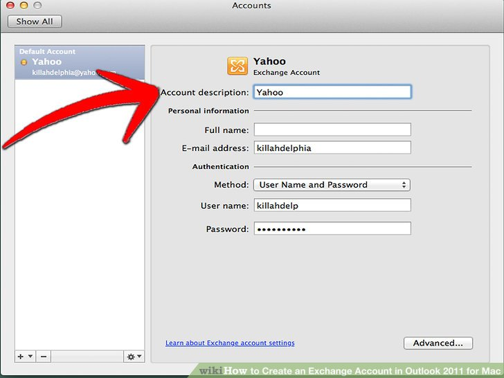 How to Create an Exchange Account in Outlook 2011 for Mac 5 Steps - create outlook account