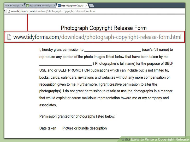 How to Write a Copyright Release 12 Steps (with Pictures)