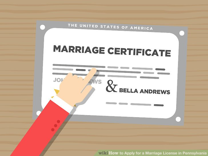 How to Apply for a Marriage License in Pennsylvania 9 Steps - marriage certificate