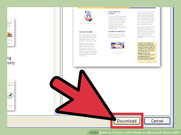 how to create a brochure in word 2007