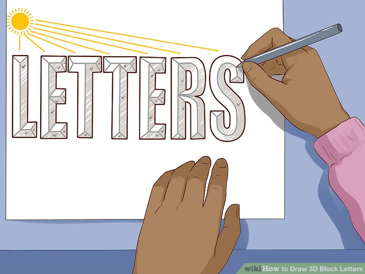 3 Easy Ways to Draw 3D Block Letters (with Pictures)