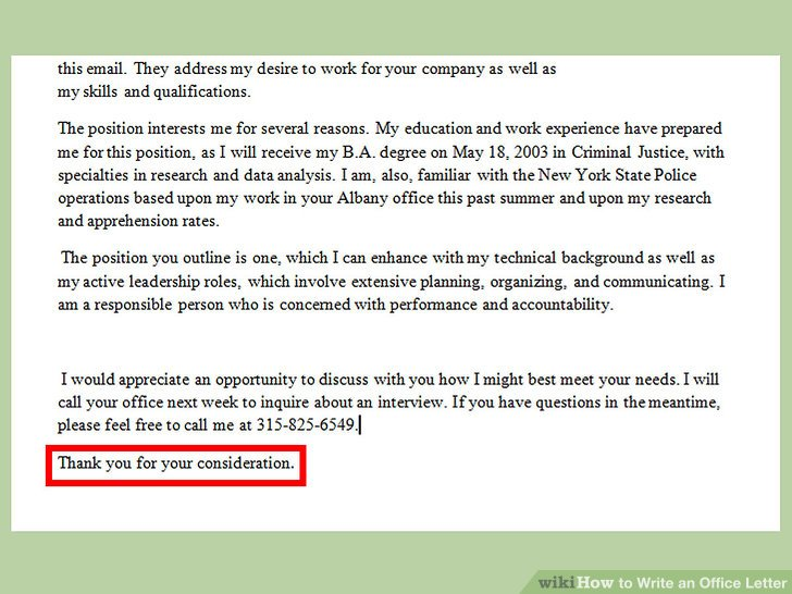 How to Write an Office Letter (with Pictures) - wikiHow - inter office communication letter