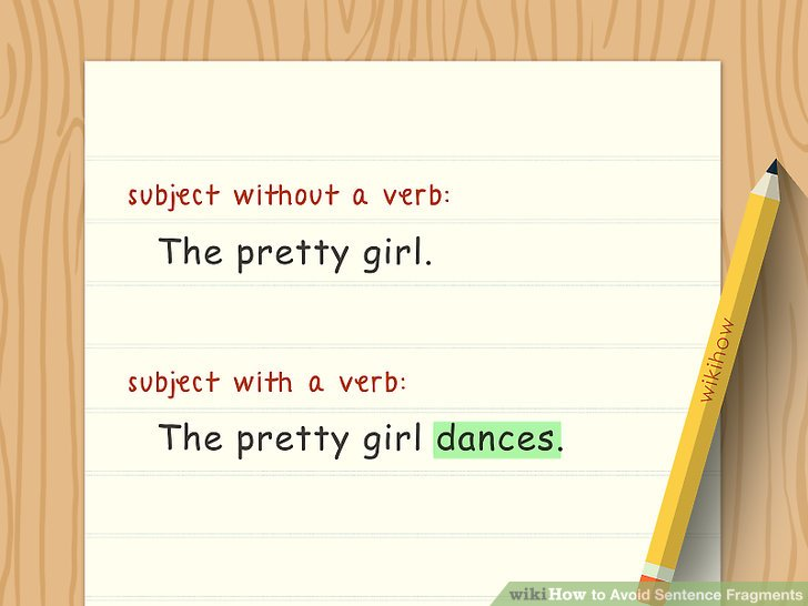 How to Avoid Sentence Fragments 10 Steps (with Pictures)
