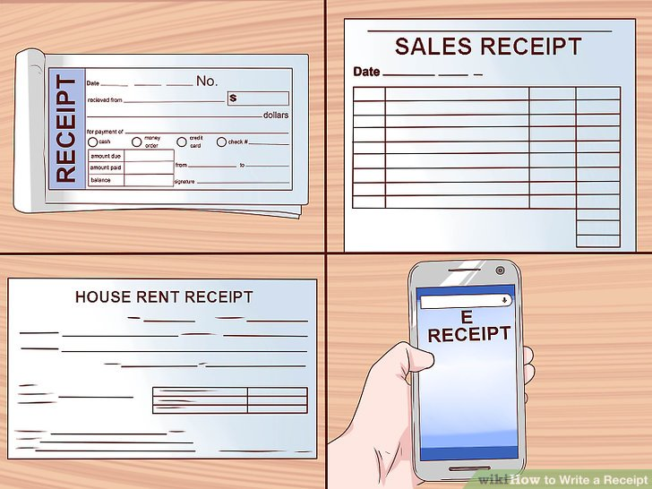 How to Write a Receipt 9 Steps (with Pictures) - wikiHow - how to write a cash receipt