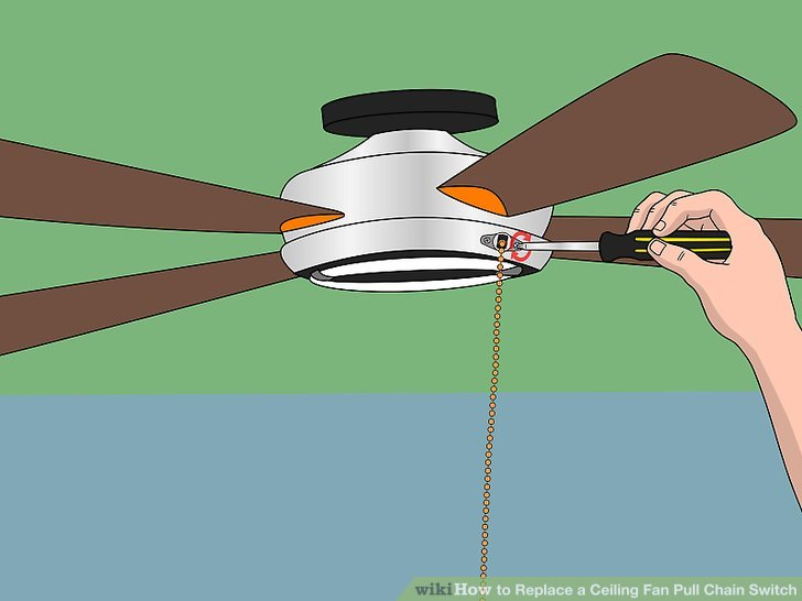How to Replace a Ceiling Fan Pull Chain Switch (with Pictures)
