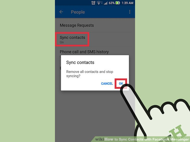 How to delete contact in facebook messenger ltt image titled sync contacts with facebook messenger step 4 ccuart Choice Image